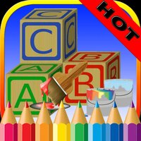 ABC Alphabets Coloring Book - Drawing Pages and Painting Educational Learning skill Games For Kid & Toddler