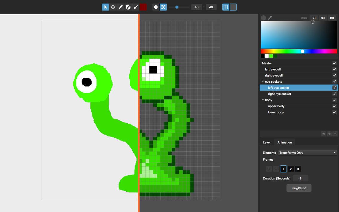 Pixelmash - Pixel Art Editor App for iPhone - Free Download