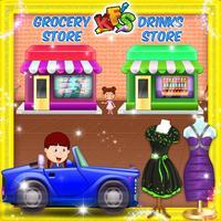 Supermarket Drive thru Shop- City Car Shopping