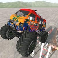 Parking Stunt of Bicycle & Monster Trucks - Car
