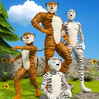 Virtual Jungle Tiger Family