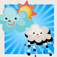 Animated Baby & Kid-s Game To Learn About the Weather in an App First steps for child-ren