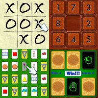 Child's Play Games - Tic-Tac-Toe,9-Puzzle,Concentration and Rock-Paper-Scissors