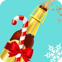 Winter Bottle Flip: Champagne