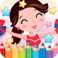 Little Girls Drawing Coloring Book - Cute Caricature Art Ideas pages for kids