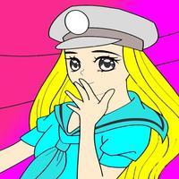 Kids Coloring Book - Cute Cartoon Uemoto