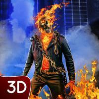 Fire Skull Superhero: City Sim