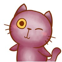 Violet Kitten for iMessage by AMSTICKERS