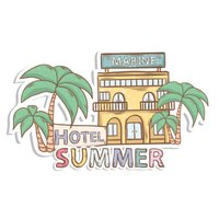 Summer & Travel Doodle Stickers Set