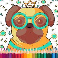 Cute Puppy Pixel Art