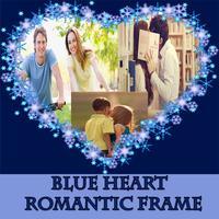 Blue Heart  Romantic Photo Frame