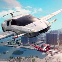 Flying Sports Car Driver: Jet Racing Simulator