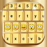 Gold Emoji Keyboard Themes