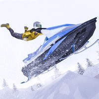 Snowmobile Stunt Bike Rider