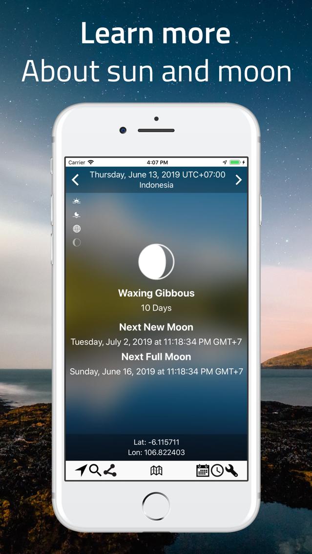 SunMap - Sun/Moon Toolkit App for iPhone - Free Download
