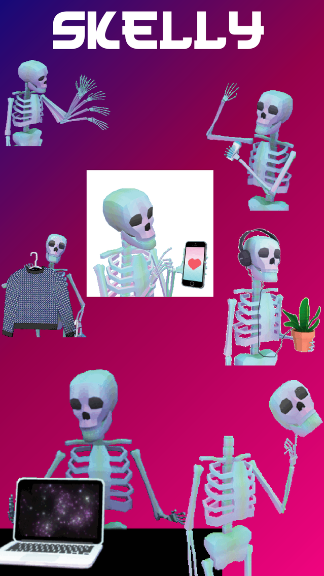 Skelly-Animated Skeletons App for iPhone - Free Download