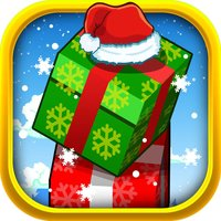 Amazing Christmas Block Tower Madness - use your fingers to push the circle & squares a-cross!