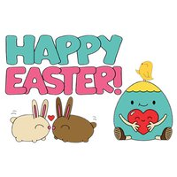 Happy Easter Colorful Sticker