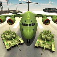 US Army Tank Game - Military Plane Transporter