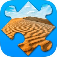 Desert Jigsaw Puzzles. Nature games for Adults