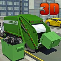 Garbage Truck Driver parking 3d Simulator- real city hero clean city