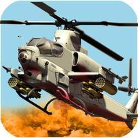 Gunship Helicopter Flying Miss