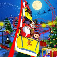 Christmas Roller Coaster Ride 3D