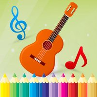 Music Coloring Book - Drawing and Painting Musical Instrument Game HD