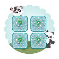 Panda Matching Cards - Zoo Match Game