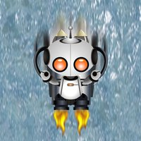The super robot fall in to gravity pit game free!