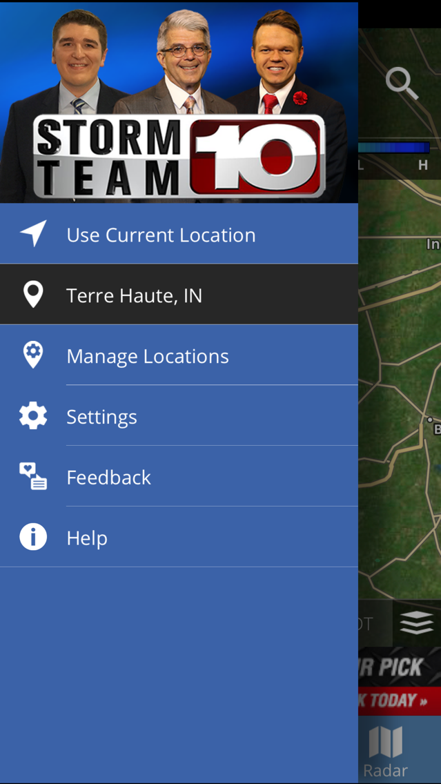 Storm Team 10 - WTHI Weather App for iPhone - Free Download