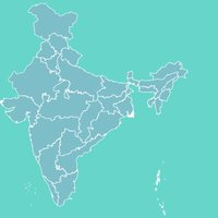 India Map With Learn And Test