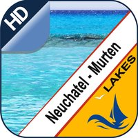 Neuchatel & Morat Lake offline nautical sail chart