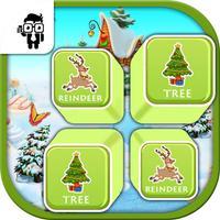 Matching Christmas Card Memory Game