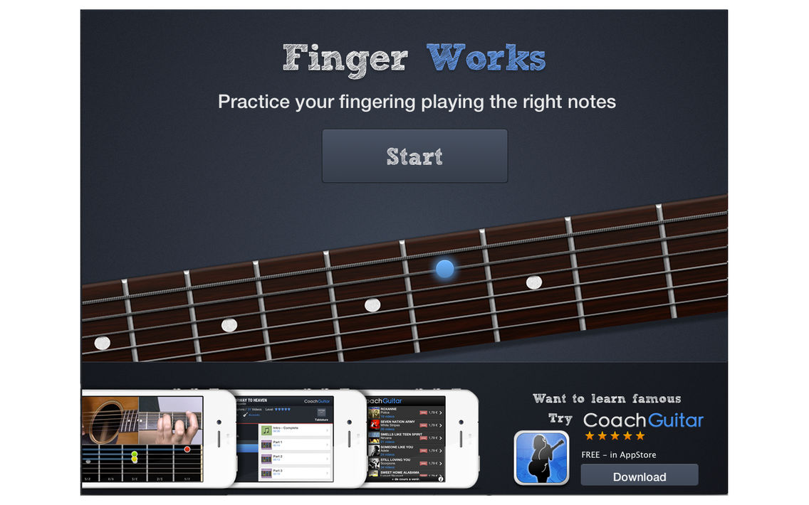 Fingerworks - guitar software learning app teacher App for iPhone
