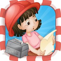 A Construction Site Learning Game for Children: Learn about the builder