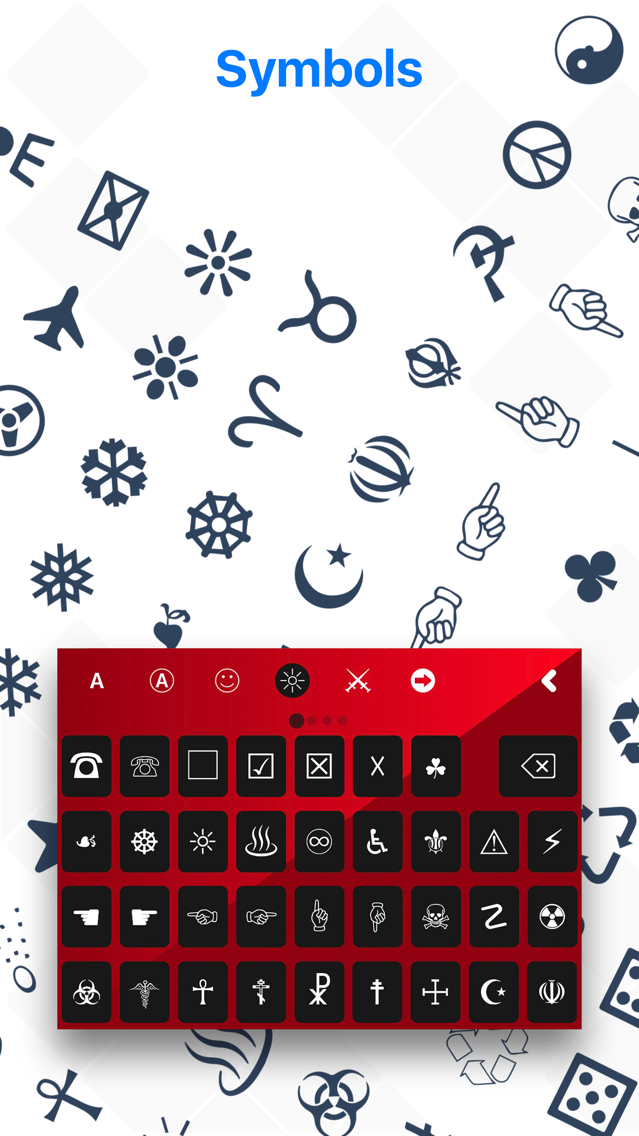 Keyboard Characters & Symbol s App for iPhone - Free