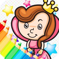 the little princess my coloring painting pages - free learning book cool games for the kids girls