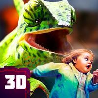 Scary Lizard City Invasion Sim