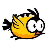Round bird sticker