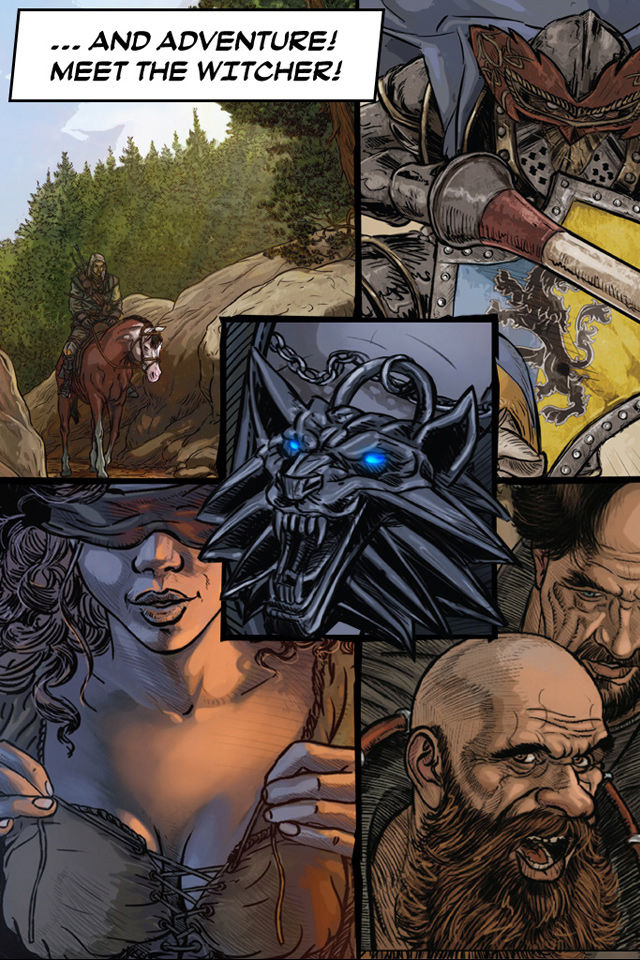 The Witcher 2 Interactive Comic Book App for iPhone - Free Download