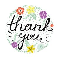 Thank you card Stickers