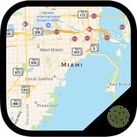 Maps+Hide Photos Premium - Fingerprint Photo Vault