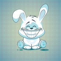Sticker Me: Funny White Bunny