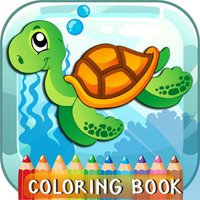 Sea Creatures Coloring Book For Kids And Toddlers!