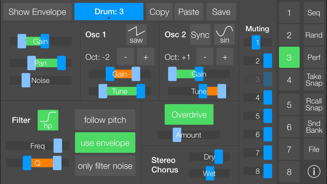 SeekBeats Drum Machine Synth App for iPhone - Free Download
