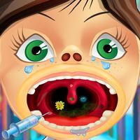 Funny Kid's Throat Doctor