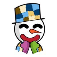 Happy Snow Man Emoij Sticker