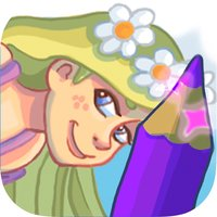 Princess Rapunzel coloring and painting book