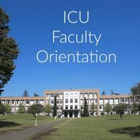 ICU Faculty Orientation